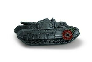 Churchill Tank Poppy Lapel Pin Badge