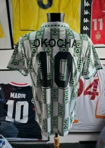 Maillot jersey trikot camiseta shirt maglia 1994 94 nigeria okocha vintage L