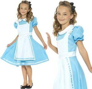 ragazze-PAESE-DELLE-MERAVIGLIE-Principessa-Costume-Bambini-Alice