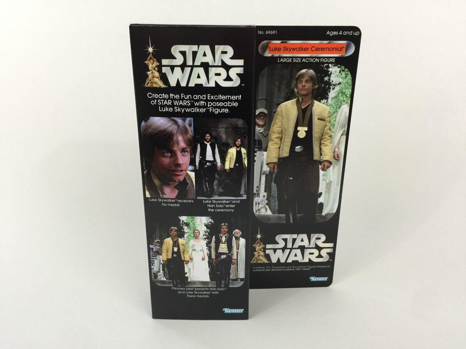 Custom Vintage Star wars 12  luke skywalker skywalker skywalker ceremonial box + inserts 6a61b0