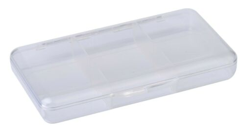 Scierra Stack /'em sec en plastique transparent pêche à la mouche Box 6 compartiments fly tying hook