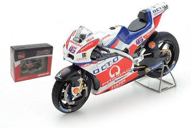 SPARK M43017 Ducati GP 15  45 Octo PRAMAC ASSEN 2016-Scott rougeding échelle 1 43