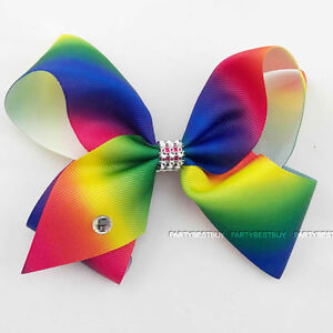 large hair bow rainbow bows dance moms girls kids accessories clips