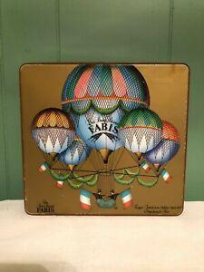 Nice-Vintage-Les-Bons-Biscuits-Fabis-Advertising-Tin-Box-Metal-Paris-Balloons