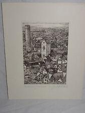 Steindruck Ravensburg Mehlsack Lithographie orig. Radierung M. Bloch (13614)