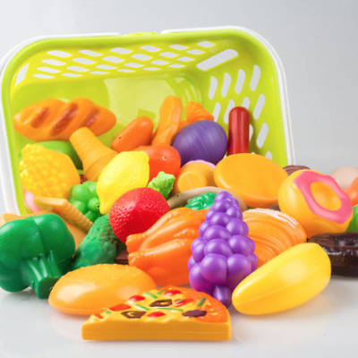 Kid Pretend Role Play Kitchen Fruit Vegetable Food Toy Cutting Set Child Gift AU