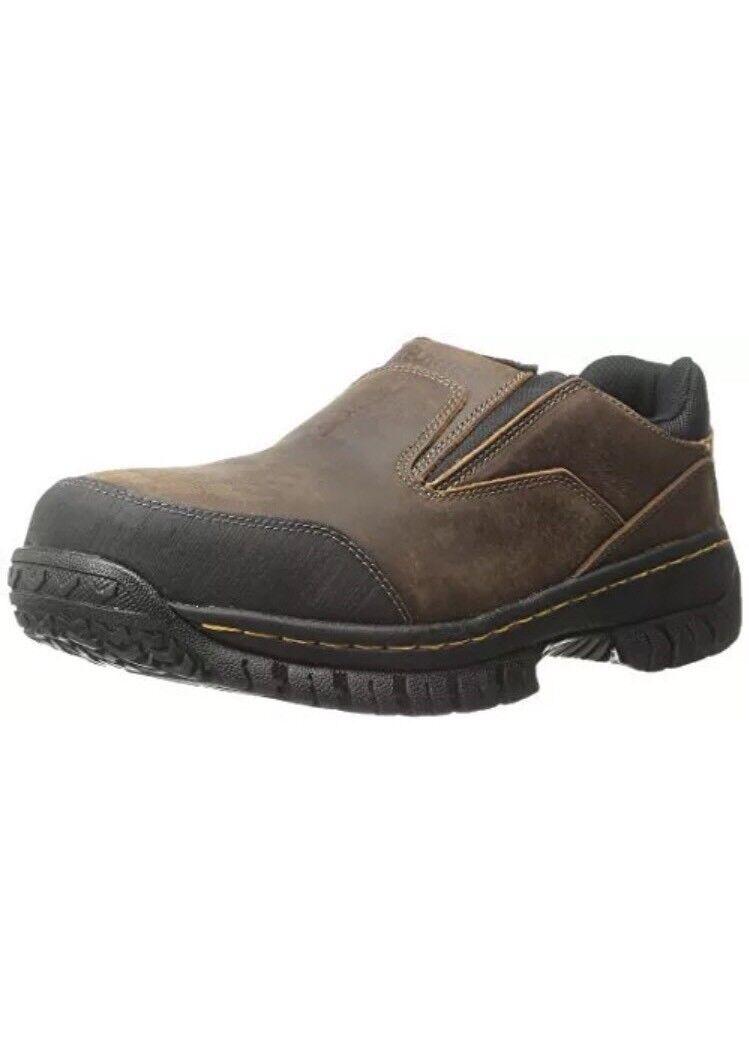 Skechers for Work Men's Hartan Steel Toe shoes 77066 DKBR Dark Brown Size 10.5