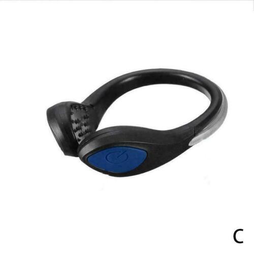 LED Luminous Shoe Clip Light Night Safety Warning Bike Running Sports Good X5Y1