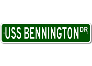 USS-BENNINGTON-CVS-20-Ship-Navy-Sailor-Metal-Street-Sign-Aluminum
