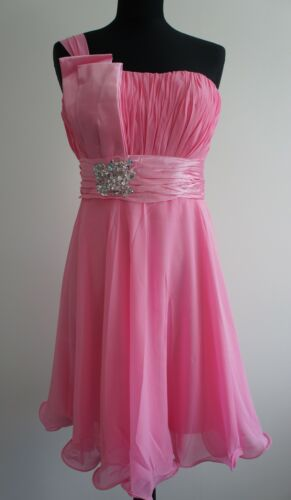 UK Stock Short Party Bridesmaid Cocktail Dress Gowns Size 6 8 10 12 14 Clearance