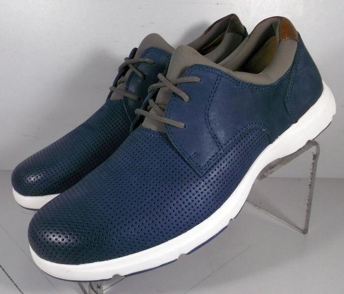 251377 SP38 Men's shoes Size 9 M Navy Leather Lace Up Johnston & Murphy