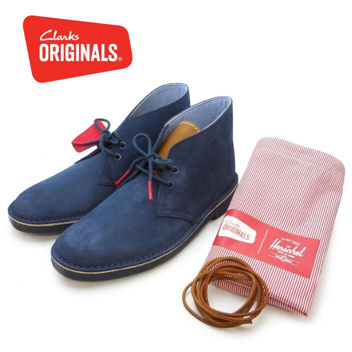 Clarks Originals Para Hombre  Desierto Bota, Herschel Azul Marino, gris   11.5 US
