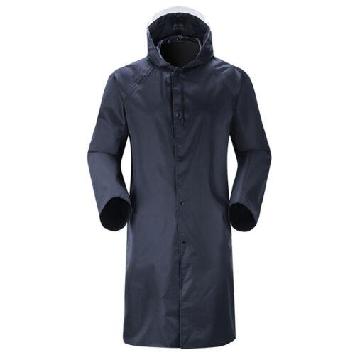Herren Wasserdicht Winddicht Regenmantel Leicht mit Kapuze Lang Jacke 2XL