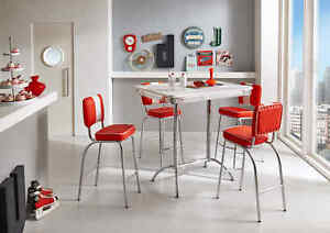 Bargruppe-Paul-King-8-American-Diner-50er-Jahre-Retro-Weiss-in-2-Farben-5-teilig