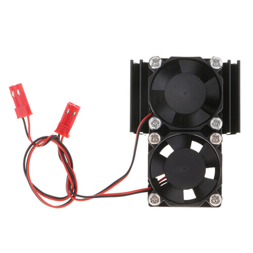 1:8 1:10 Scale RC Cars 550 540 Motor Heat Sink with Dual Cooling Fans Black