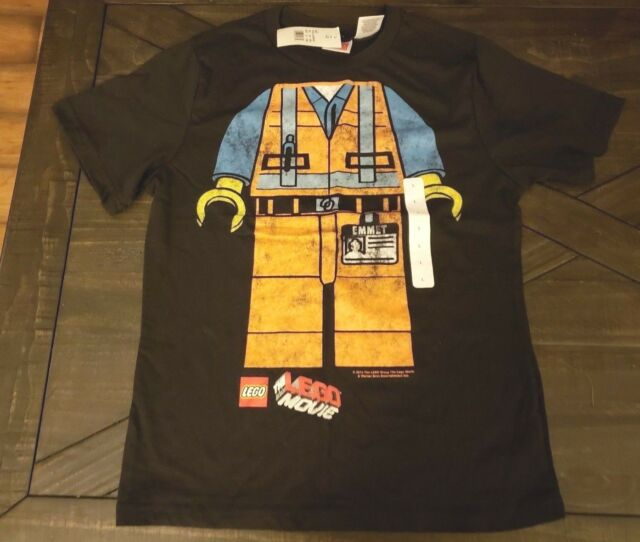 1a080c72 The Lego Movie T-shirt Emmet Mini Figure Boys Youth Size Large for ...