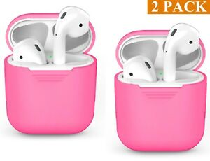 2cc80e905a3 Pink Cover Protective Silicone Skin 4 AirPods Apple Airpod Charging ...
