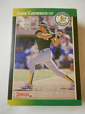 Donruss Baseball MLB Cards Pack 1989 Canseco Swindell Unopened