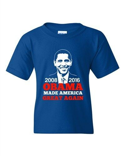 President Barack Obama Made America Great Again USA DT Youth T-Shirt Tee