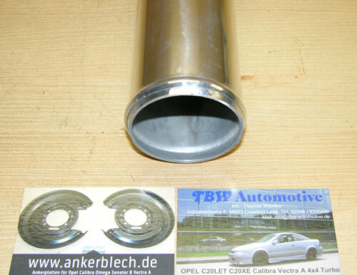 "nuevo 60cm tubo aluminio 2,25/"" arco 45 grados de aire de carga 45 ° alubogen 57 mm alurohr"