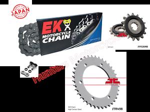 Suzuki GSXR600 SRad EK Japanese X-Ring Chain and JT RB Sprocket Kit Set 98 /& 99