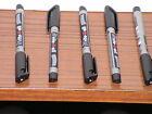 5 X Stabilo Write 4 All Permanent Marker Pen Black Fine Point 0.7mm Waterproof