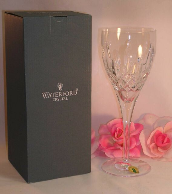 New Waterford Lead Crystal Lismore Nouveau Goblet Beautiful Stemware Bar Wine