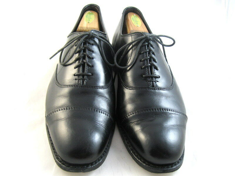 Allen Edmonds  The HOPKINSON  Cap-toe Oxford 9.5 D Black   (638)