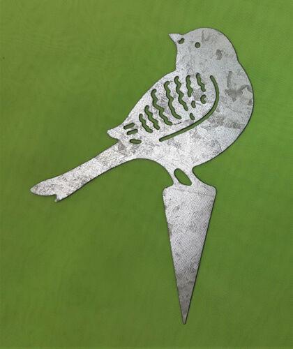 Blumenstecker Beetstecker Vogel Zink Silber Garten 0957216815