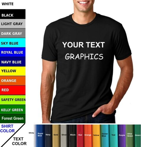 Your Text Customized Mens Short Sleeve Cotton Solid T Shirt Hot Summer Gym Top
