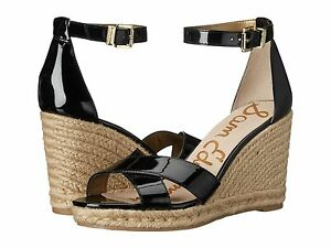 99e1d8a6e20 Details about Women's Sam Edelman Brenda Wedge Sandals, E0567S1002 Sizes  5.5-10 Black Patent
