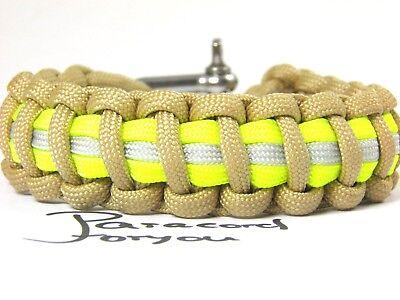 Bracciale Braccialetto MILTEC PARACORD Bracelet 1,9 cm Treccia 17 20 23 cm BK