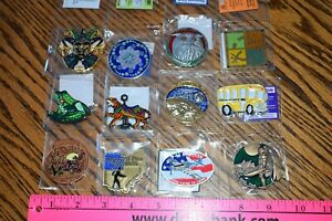 Geocoin-Lot-Of-12-Geo-Coins-Trackable-amp-Unactivated