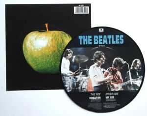 EX-THE-BEATLES-HEY-JUDE-7-034-Vinyl-Picture-Disc-Insert-20TH-ANNIVERSARY