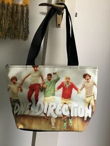 One-Direction-Tote-Hand-Shopping-Bag-Unbranded-100-Polyester-Used-Collectable