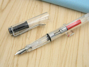 JINHAO-599-Plastic-Transparent-F-Nib-Fountain-Pen