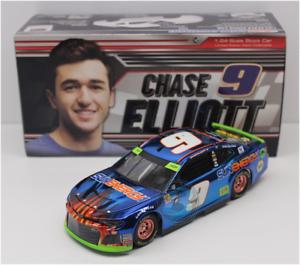 NEW NASCAR 2018 CHASE ELLIOTT #9 SUN ENERGY ONE BLUE BLAST COLOR CHROME 1//24 CAR
