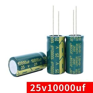 2PCS 400V 100uF High Frequency LOW ESR Radial Electrolytic Capacitors 18x25mm