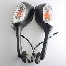 Black Integrated Turn Signal Mirrors For Suzuki GSXR 600 750 1000 2006-2008