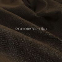 10 Metres Of Soft Luxurious Chenille Heavily Textured Brown Upholstery Fabric