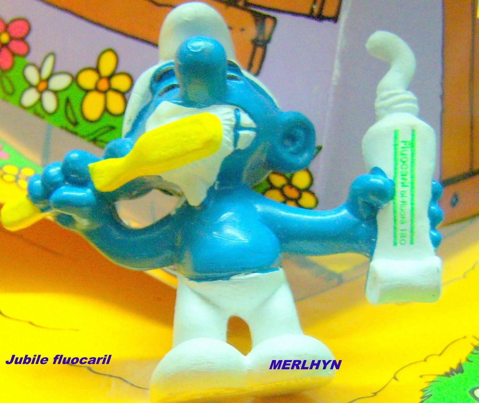 Schtroumpf tube dentifrice publicitaire fluocaril Smurf pitufo puffo puffi  rar.