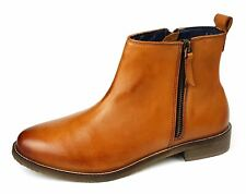 473246b78d6d8 item 2 Womens Ankle Boots Low Mid Leather Tan Brown Chelsea Zip Up Size 4 5  6 7 8 9 -Womens Ankle Boots Low Mid Leather Tan Brown Chelsea Zip Up Size 4  5 6 ...