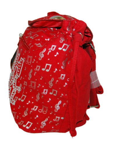 "HSM HIGH SCHOOL MUSICAL Zak Efron Rosso Tela Morbido 10/"" x 6/"" x 11/"" piccoli Back Pack"
