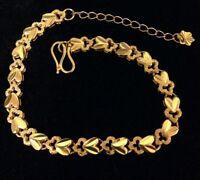 24karat Gold Over Sterling Bracelet 7 To 9 Inch Aj