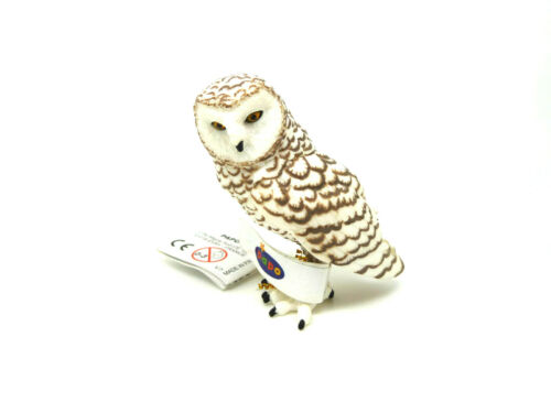 K48 Hibou Papo 50167 Harfang Hibou Top peintes à la main waldtier oiseaux