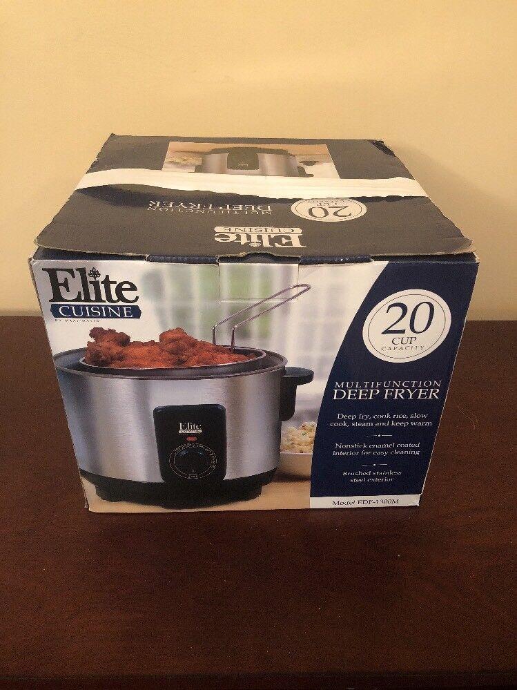 Elite cuisine 20 tasses multifonction friteuse cuiseur à riz autocuiseur