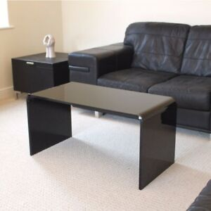 Details about Premium Black Acrylic Perspex Coffee Table 85cm Long - Made  In The UK