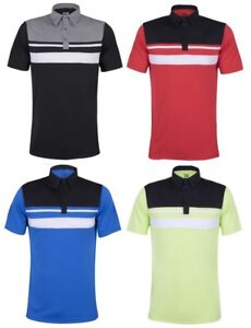 c66570c3 New 2018 Sub70 Golf Tour Birkdale Stripe Polo Shirt Top Lightweight ...