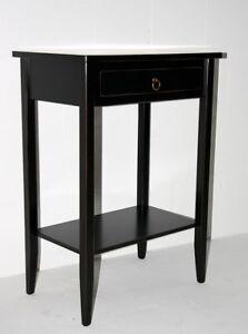 Massivholz-Beistelltisch-schwarz-antik-Konsolentisch-Flur-Tisch-Telefon-Konsole