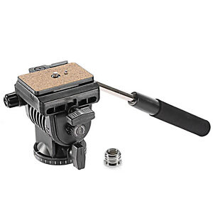 Neewer-360-Degree-Tripod-Fluid-Head-with-1-4-034-3-8-034-Screw-Quick-Release-Plate